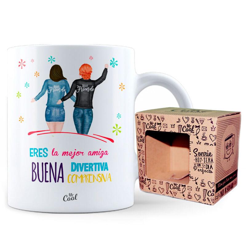 Taza Eres La Mejor Amiga Buena Divertida Comprensiva 8436571074430