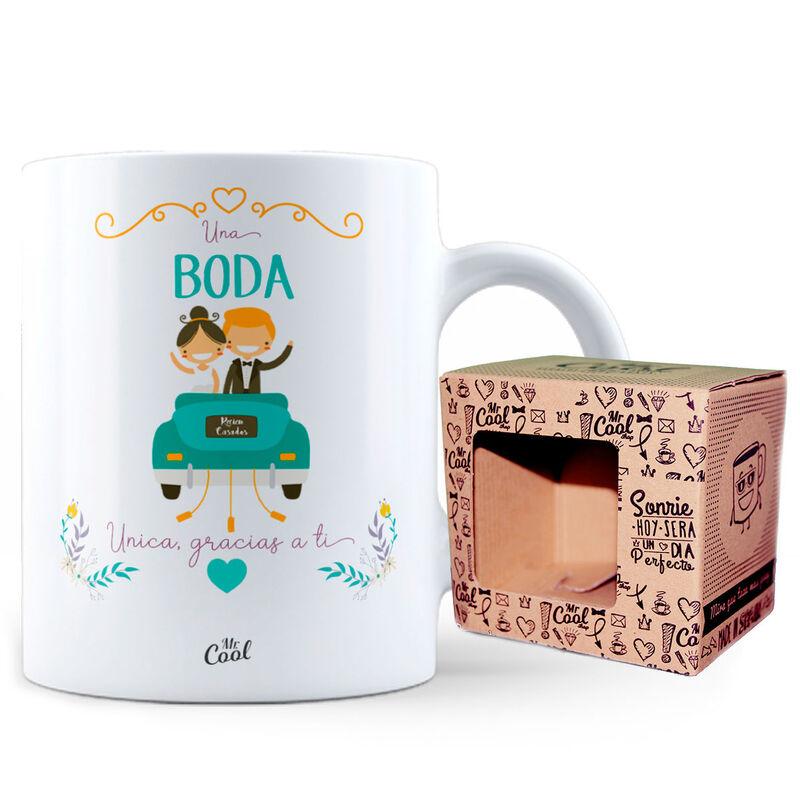Taza Una Boda Unica Gracias a Ti 8436571074867