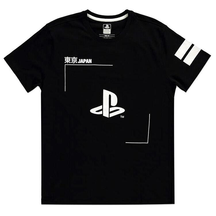 Camiseta Black and White Logo PlayStation 8718526338027