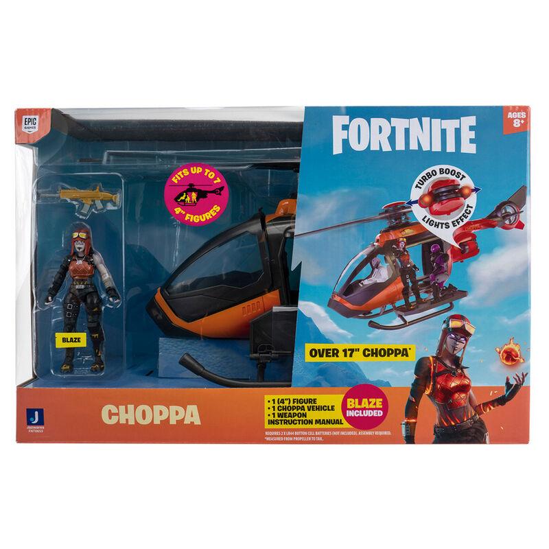 Set Helicoptero Choppa + figura Blaze Fortnite 191726389989