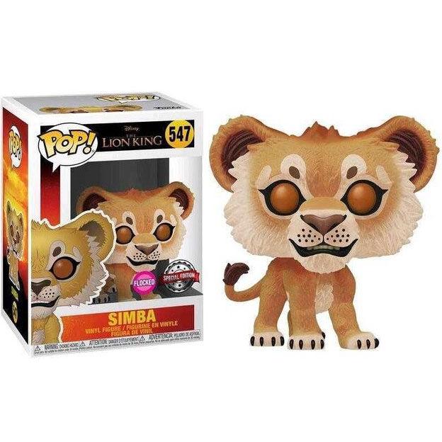 Figura POP Disney El Rey Leon Simba Flocked Exclusive 889698397049