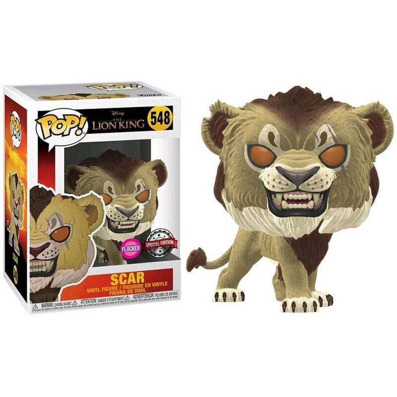 Figura POP Disney El Rey Leon Scar Flocked Exclusive 889698406970