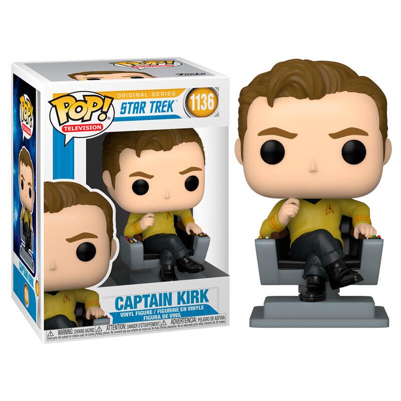 Pre-pedido Funko POP o Figura POP Star Trek Captain Kirk in Chair