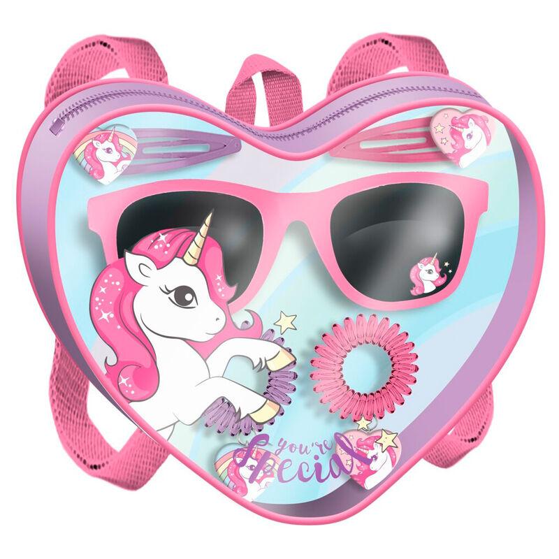 Bolso gafas de sol + accesorios pelo Unicornio 8435507846257