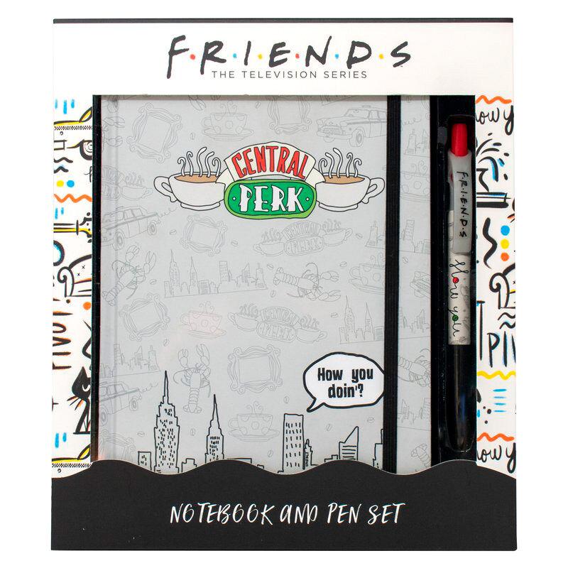 Set cuaderno A5 + boligrafo Central Perk Friends 5060718143340