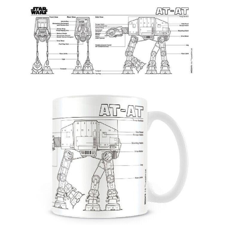 Taza AT-AT Sketch Star Wars 5050574234764