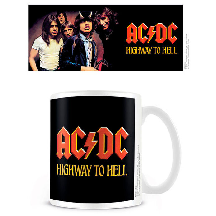 Taza Highway To Hell Coffee ACDC 5050574239356