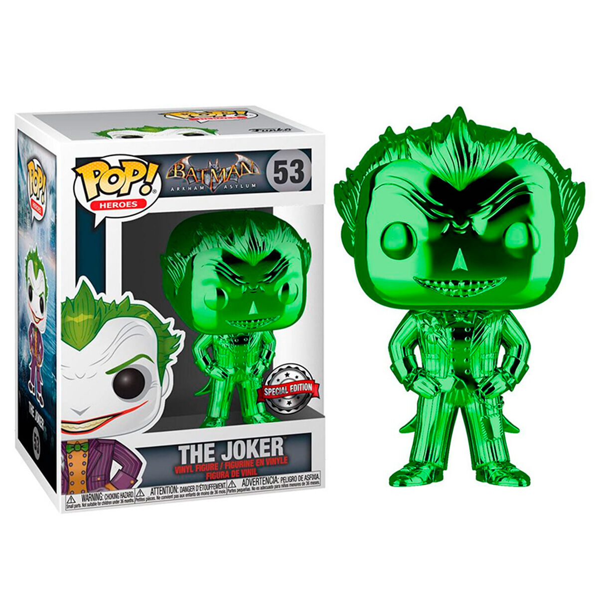Figura POP DC Comics Batman The Joker Metallic Exclusive 889698423366