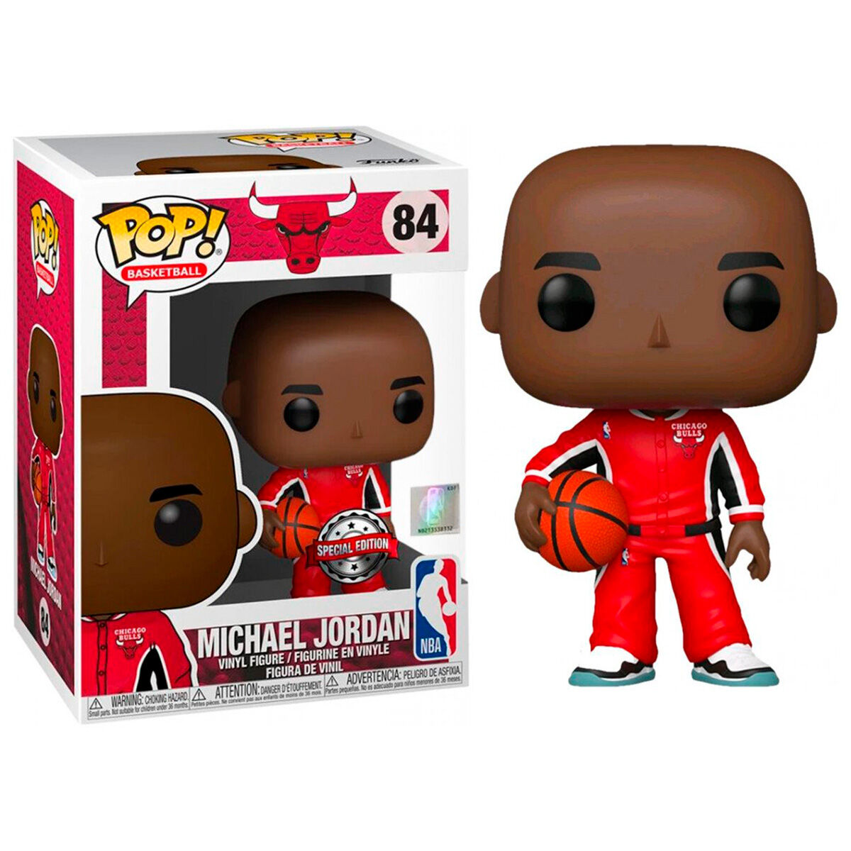 Figura POP NBA Chicago Bulls Michael Jordan Red Warm Ups Exclusive 889698421768