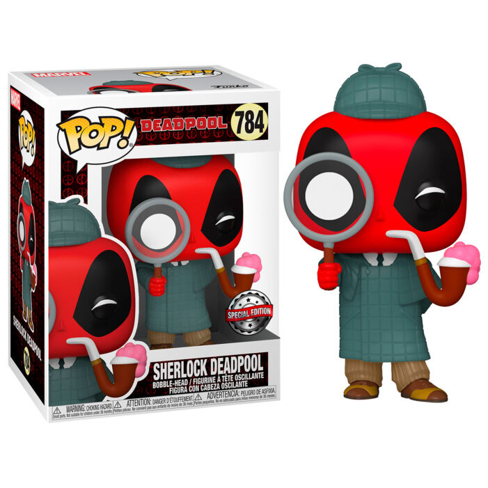 Funko POP o Figura POP Marvel Deadpool 30th Sherlock Deadpool Exclusive
