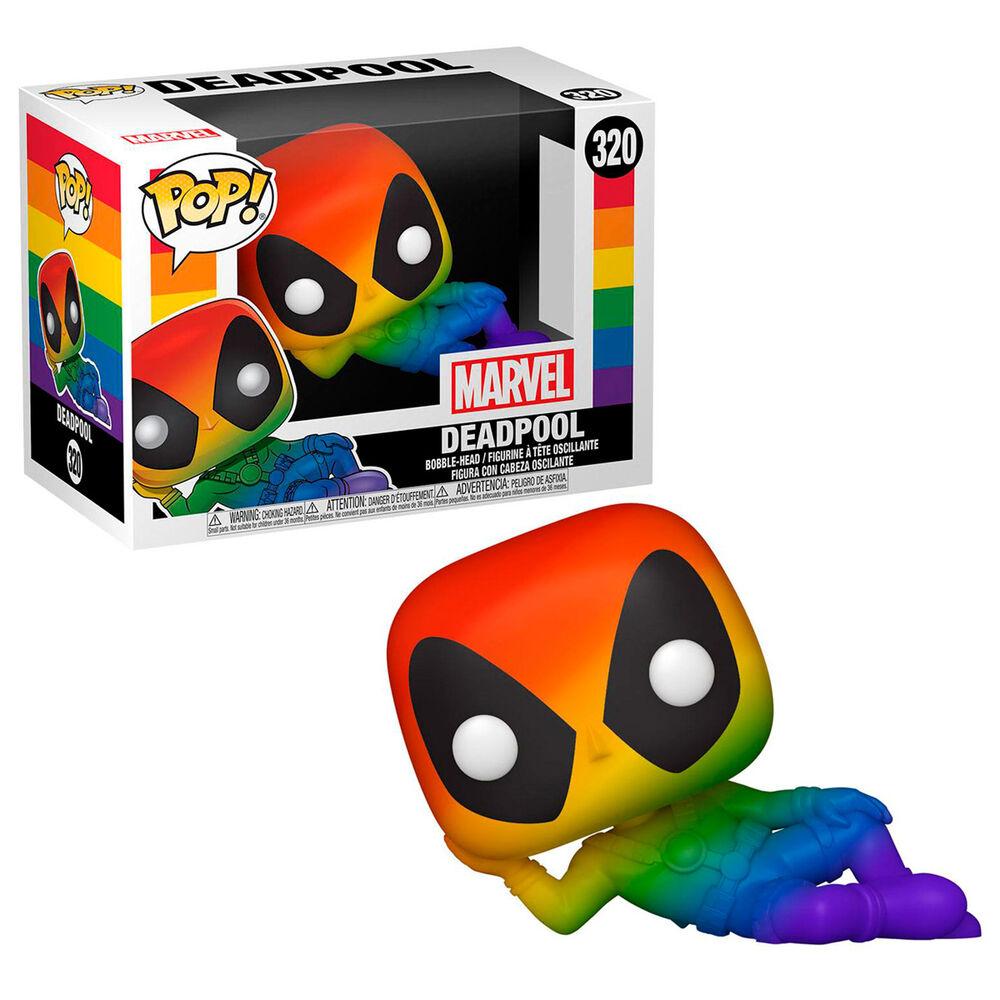 Figura POP Marvel Pride Deadpool Rainbow 889698569798