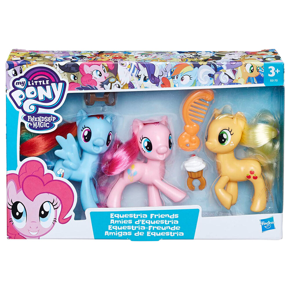 Pack 3 figuras Amigas de Equestria Mi Pequeño Pony 8cm 5010993515462