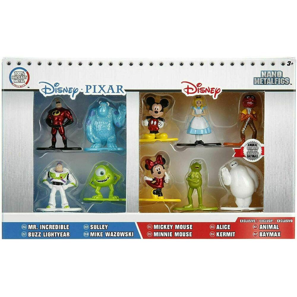 Pack 10 figuras Nano Metalfigs Disney Pixar 4cm 801310844243