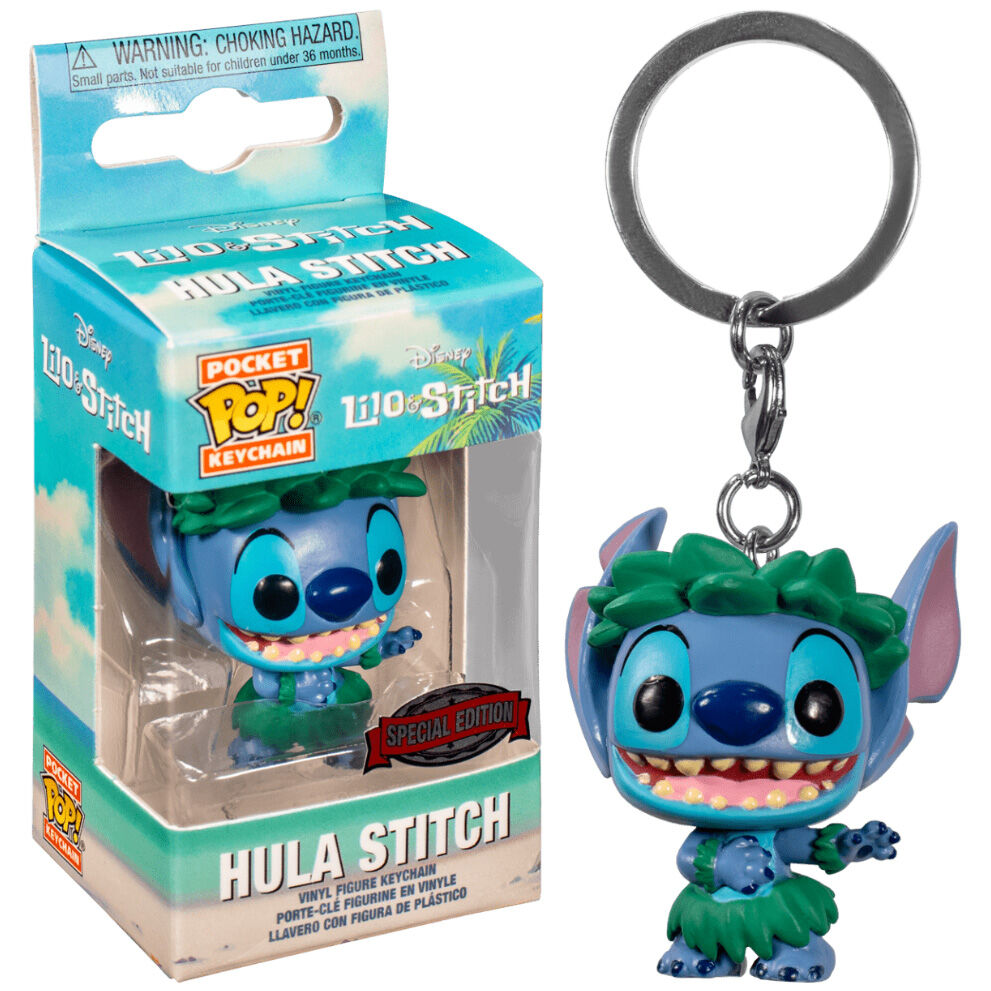 Llavero Pocket POP Disney Lilo and Stitch - Stitch In Hula Skirt Exclusive 889698383318