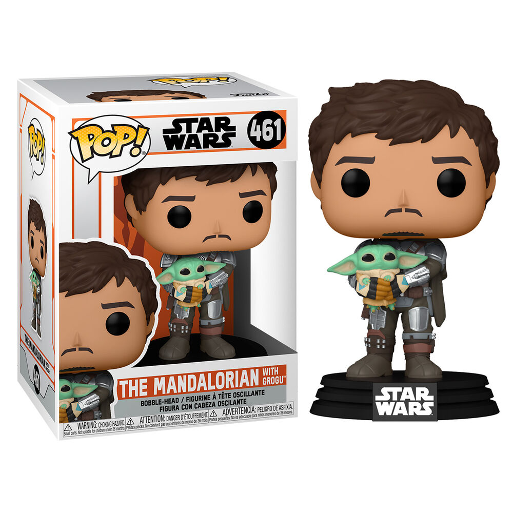 Pre-pedido Funko POP o Figura POP Star Wars Mandalorian Mando Holding Child