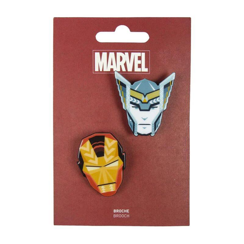 Set 2 broches Vengadores Avengers Marvel 8427934286546
