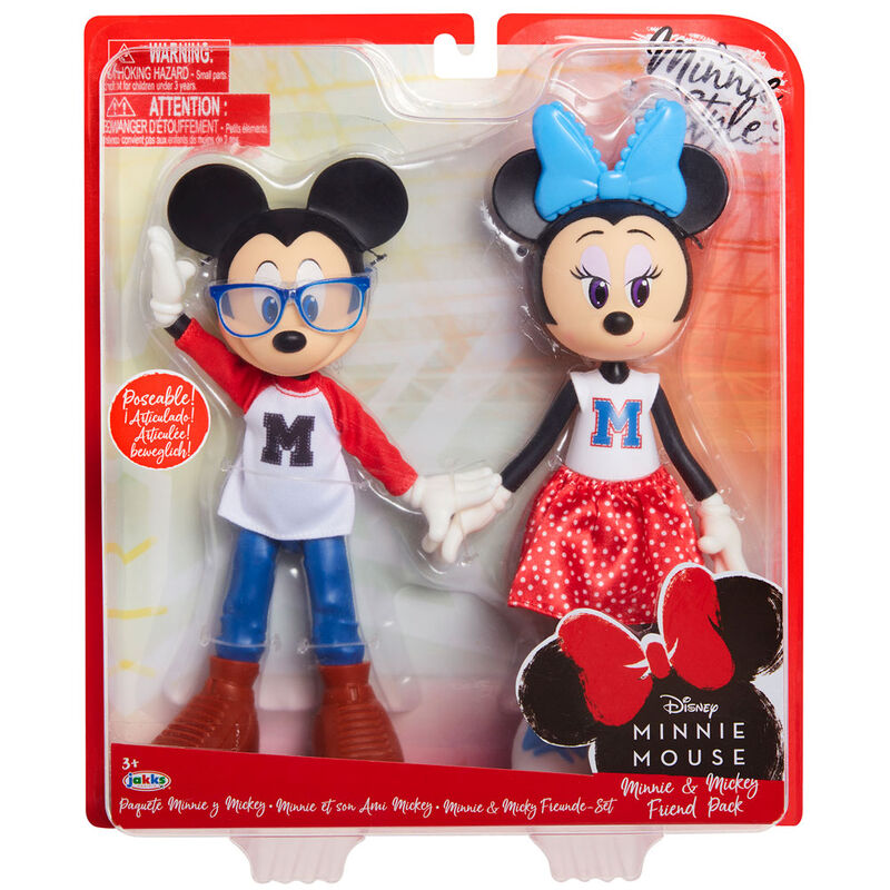 Pack 2 muñecas Minnie and Mickey Mouse 24cm 192995209473