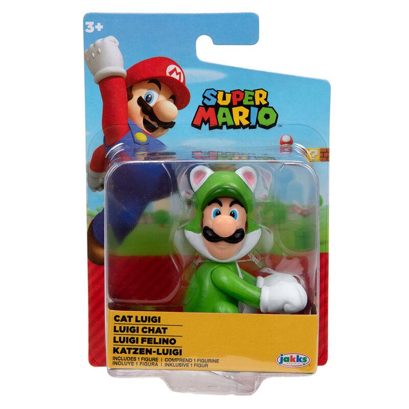 Figura Luigi Felino Super Mario Nintendo 6,5cm 39897914268