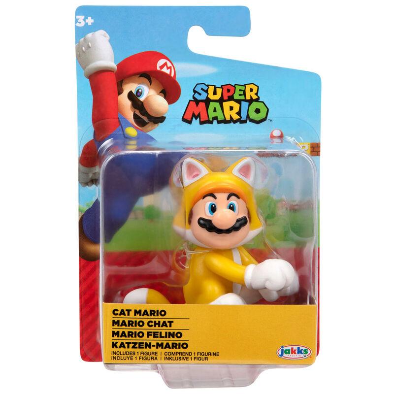 Figura Mario Felino Super Mario Nintendo 6,5cm 39897914244