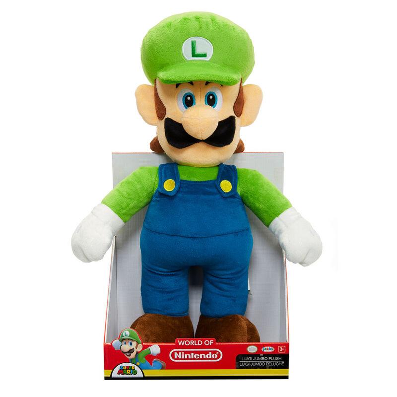 Peluche Jumbo Luigi Super Mario Nintendo 50cm 39897644578