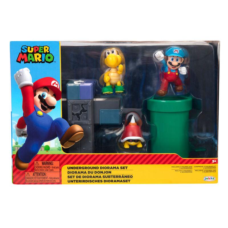 Set diorama Subterraneo Super Mario Nintendo 192995404267