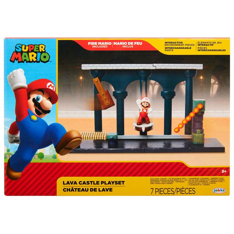 Playset Castillo de Lava Super Mario Nintendo 192995400177