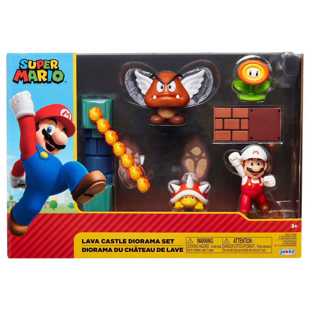 Set diorama Castillo de Lava Super Mario Nintendo 192995400153
