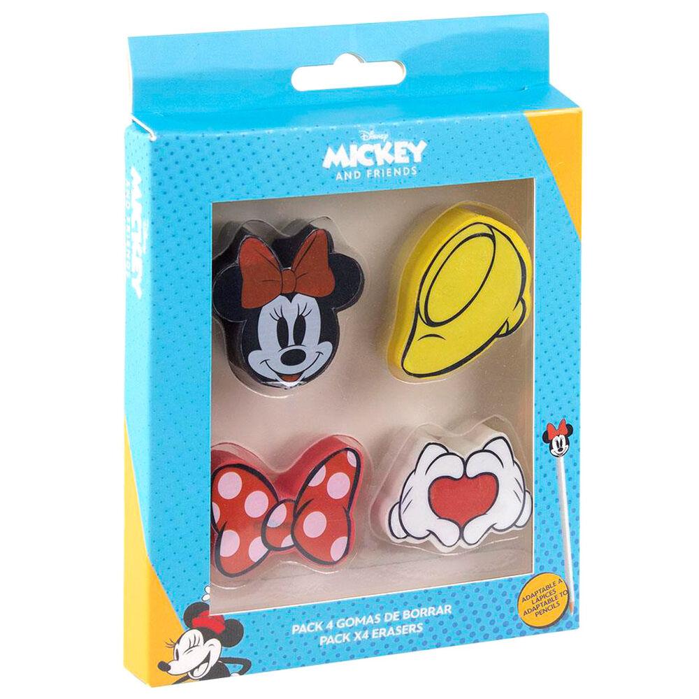 Pack 4 gomas de borrar Minnie Disney 8427934589609