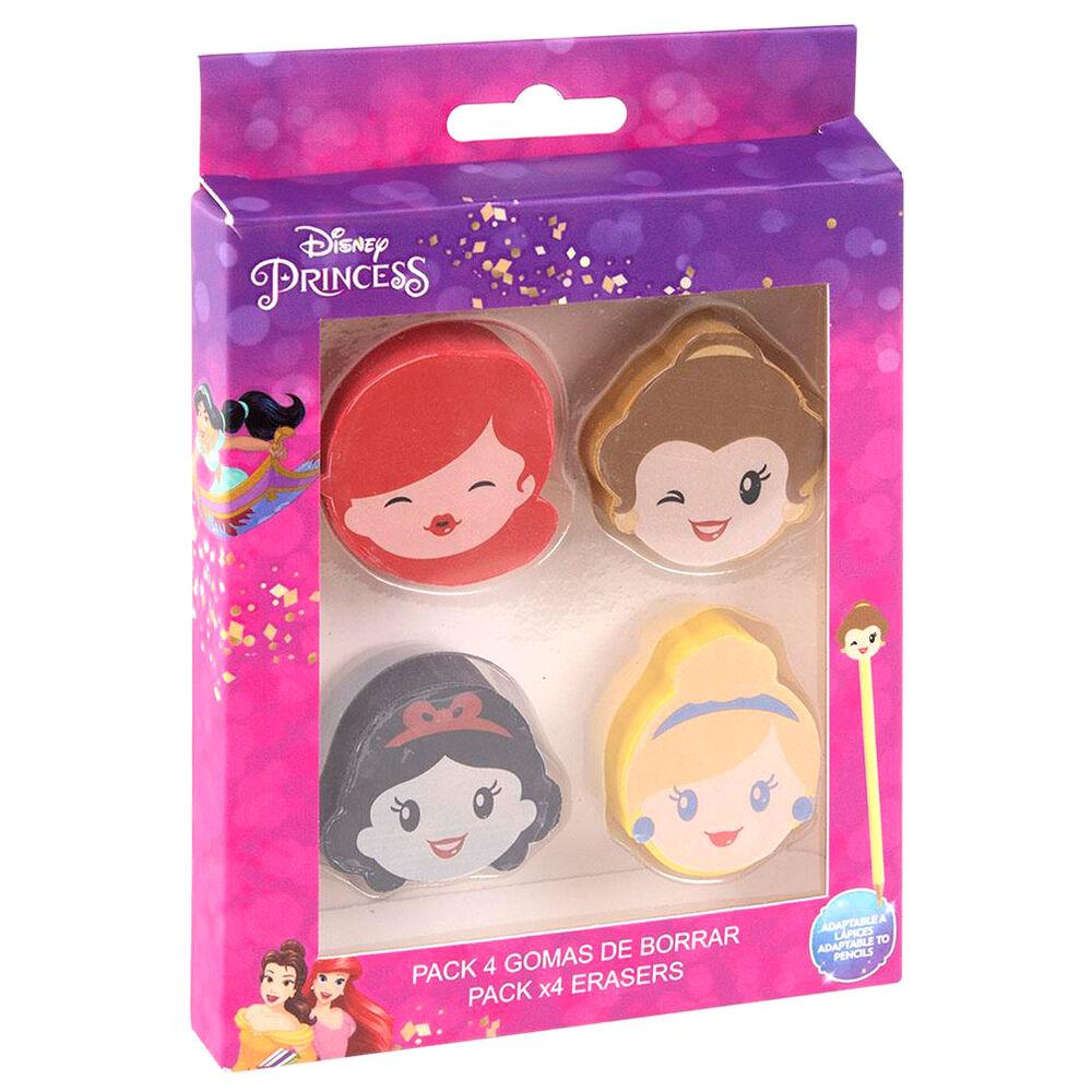 Pack 4 gomas de borrar Princesas Disney 8427934589647