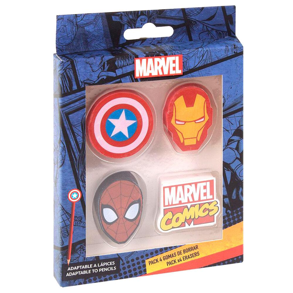 Pack 4 gomas de borrar Marvel 8427934589708