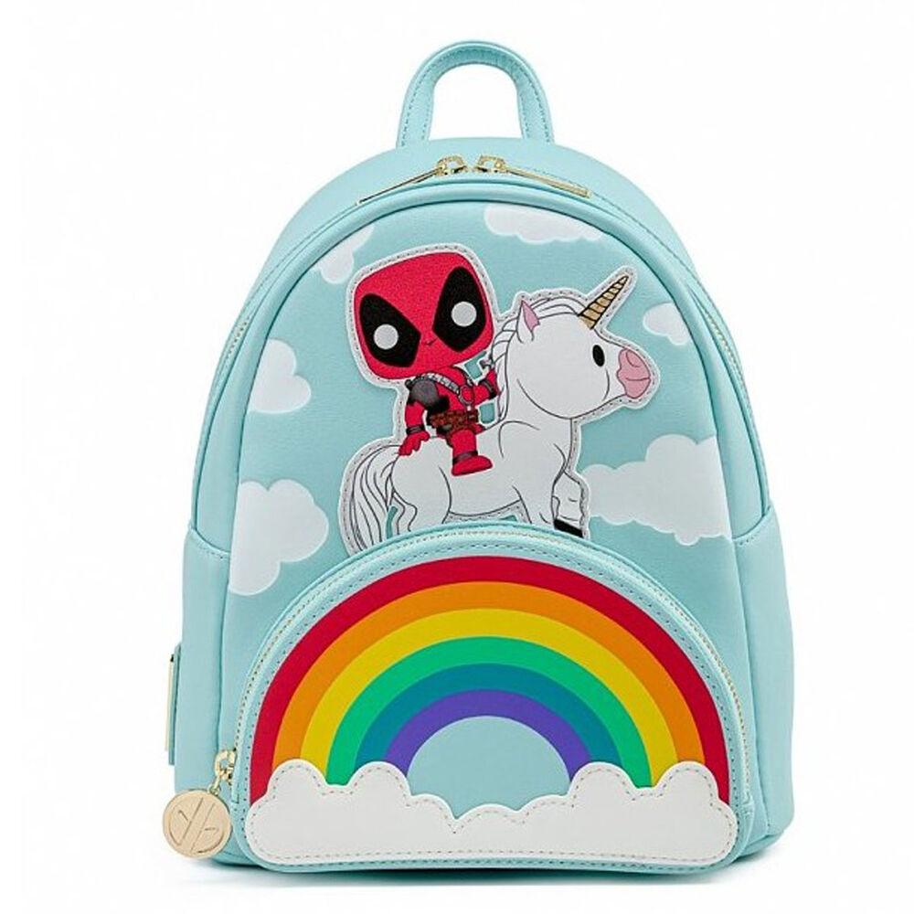 Mochila Unicorn Rainbow Deadpool 30th Anniversary Marvel Loungefly 25cm 671803364110