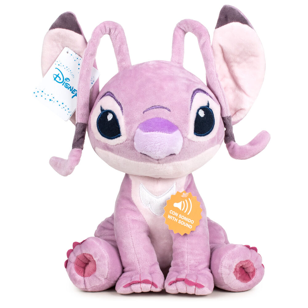 Peluche Angel Stitch Disney soft sonido 30cm 8425611399923