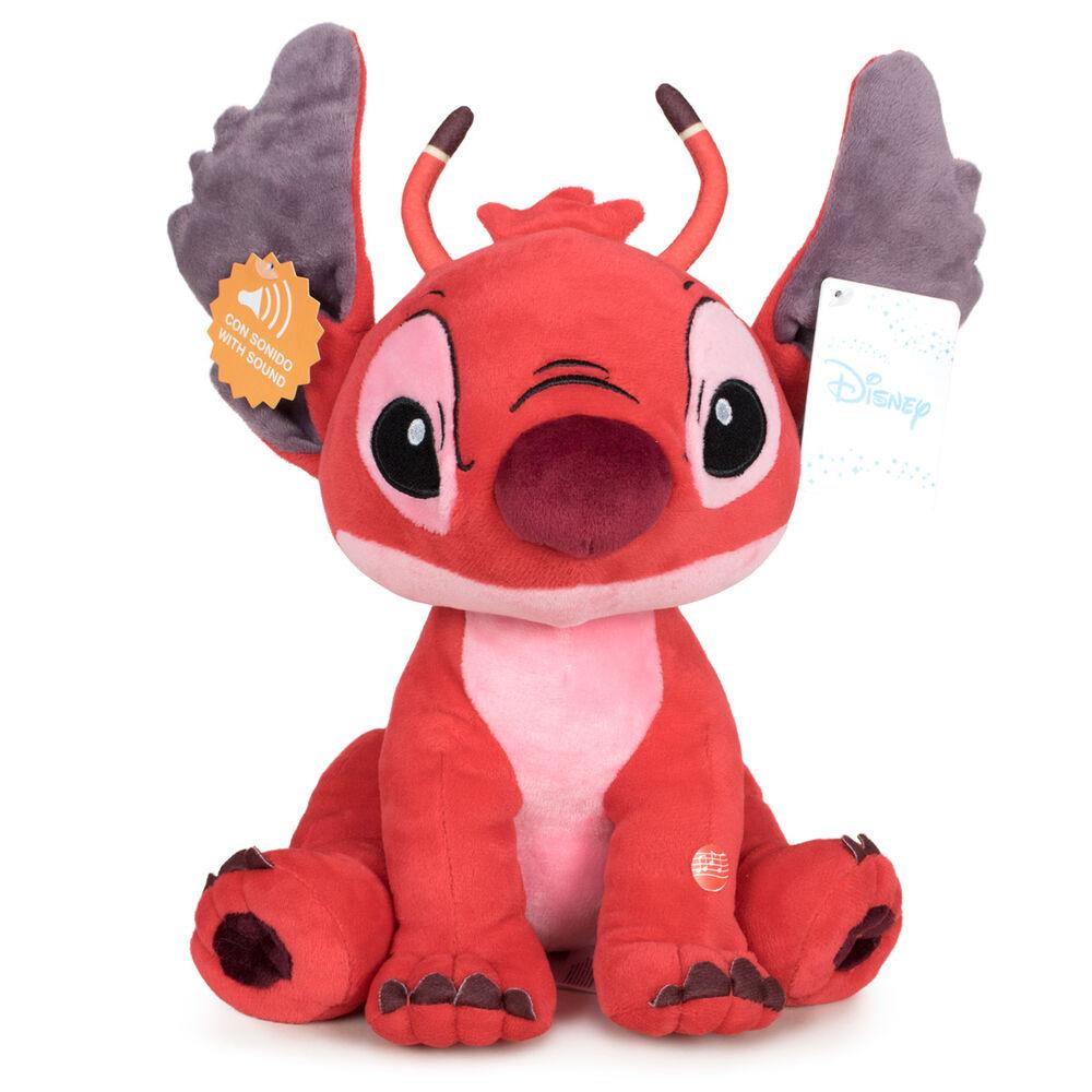 Peluche Leroy Stitch Disney soft sonido 30cm 8425611399930