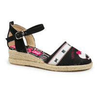 Sandalias Monster High esparto negras