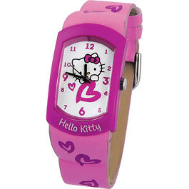 Reloj analogico Hello Kitty lila caja metalica*