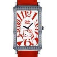 Reloj Red Leather Hello Kitty Diamond Collection Sanrio