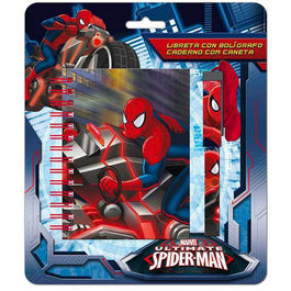 Blister libreta boligrafo Spiderman Marvel