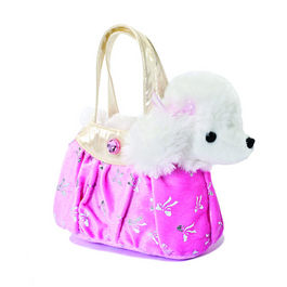 Peluche Fancy Pal Caniche Rosa Brillante