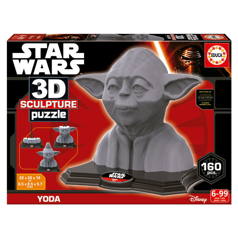 puzzle 3d yoda star wars disney ociostock marketplace b2b. Black Bedroom Furniture Sets. Home Design Ideas
