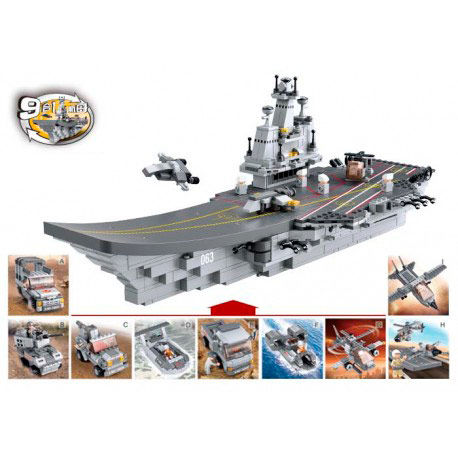 Aircraft carrier 9 in 1 1001pz - OcioStock - Marketplace B2B