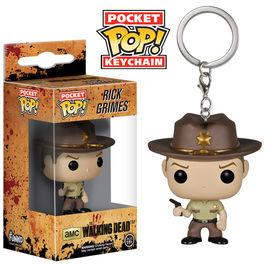 Llavero Pocket POP The Walking Dead Rick Grimes