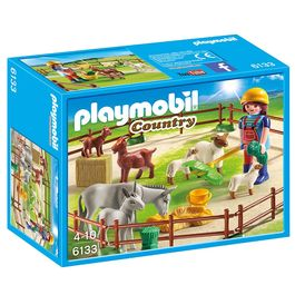Playmobil Country Farm animal pen with 7 animals
