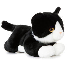 Plush Toy Cat Black and White Luv to Cuddle 28cm