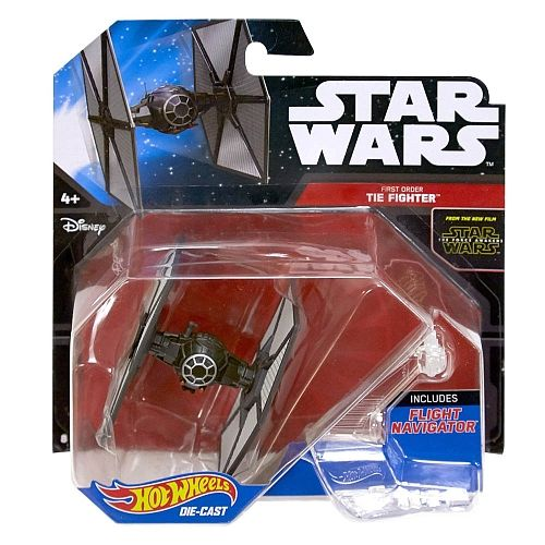 Blister Caza Tie First Order Star Wars Hot Wheels 887961301908