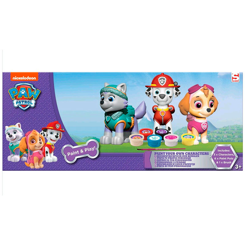 Paw Patrol Paint Your Own Figures Skye Marshall Everest