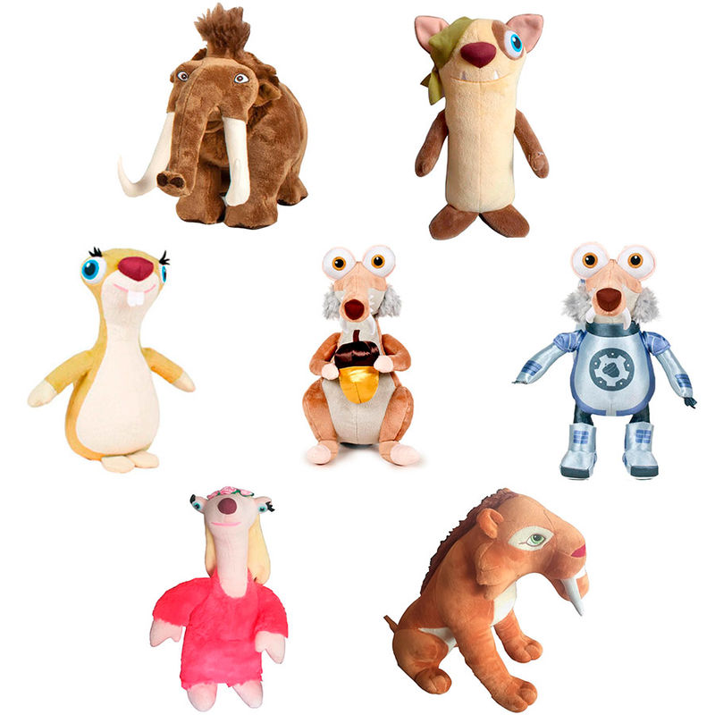 Ice Age supersoft assorted plush toy 27cm - OcioStock - Marketplace B2B