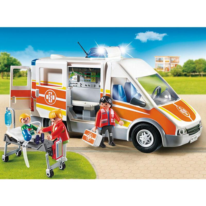 Ambulancia Playmobil City Life luces sonido