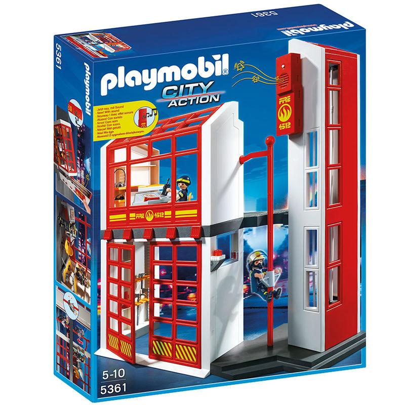 Estacion bomberos Playmobil City Action sonido