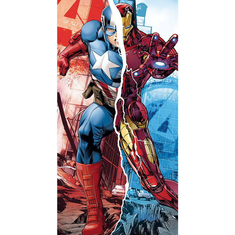 Toalla Los Vengadores Marvel Capitan America Iron Man algodon