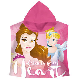 Disney Princess Listen to your Heart cotton poncho towel